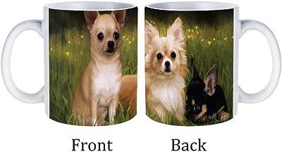 チワワ犬 磁器カップコーヒーマグホームセラミックオフィスティーカップ