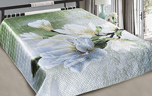 posylka.de Tagesdecke, Bettüberwurf mit 3D Aufdruck, Elegie, ca. 200x220 cm