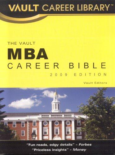 Mba Career Bible Vault Mba Career Bible