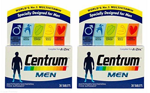 2 Packs Of Centrum Multivitamins For Men 30 Tablets = TOTAL 60 Tablets