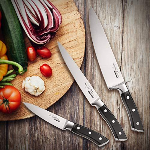 SKY LIGHT Kitchen Knives Set Chef knives Set - Chef Knife Utility Knife Paring Knife German High Carbon Stainless Steel Floged Blade Ergonomic Handle Cooks Knives