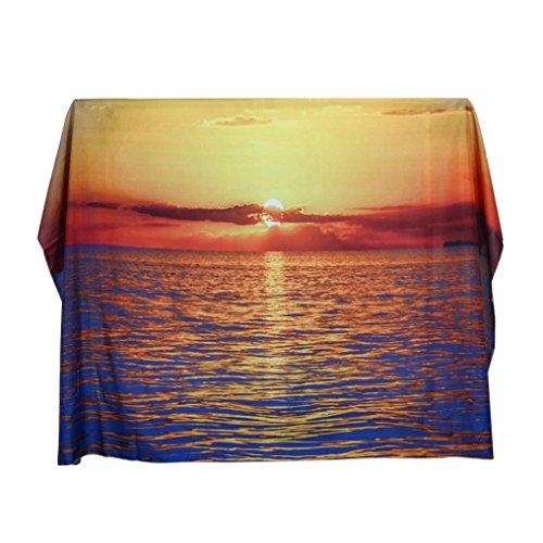 Gaddrt Cascade de la plage suspendue Wall tapisserie bohémienne hippie pour couvre-lit maison Decor, 130x150cm (F)