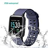 Willful Smartwatch Impermeable Reloj Inteligente con Pulsómetro, Pulsera Inteligente para Deporte con Cronómetro, Podómetro. Smartwatch Hombre Mujer para Android iOS Xiaomi Huawei iPhone(Azul)
