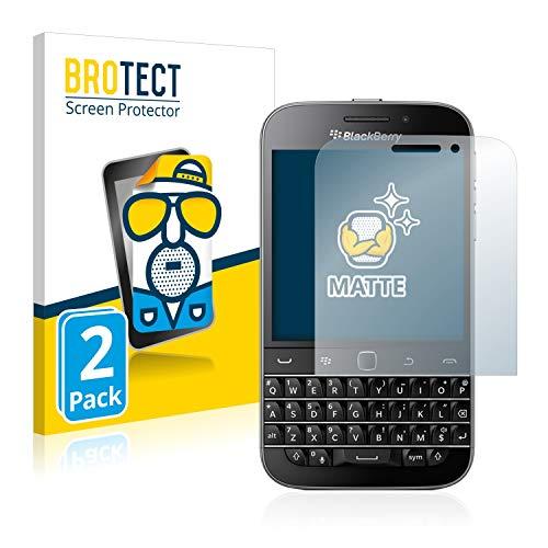 BROTECT 2X Entspiegelungs-Schutzfolie kompatibel mit BlackBerry Classic Q20 Bildschirmschutz-Folie Matt, Anti-Reflex, Anti-Fingerprint