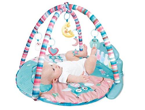Tapis de sol musical Babyhugs pour bébé - Tapis d'activité sensoriel, de jeu, de gymnastique