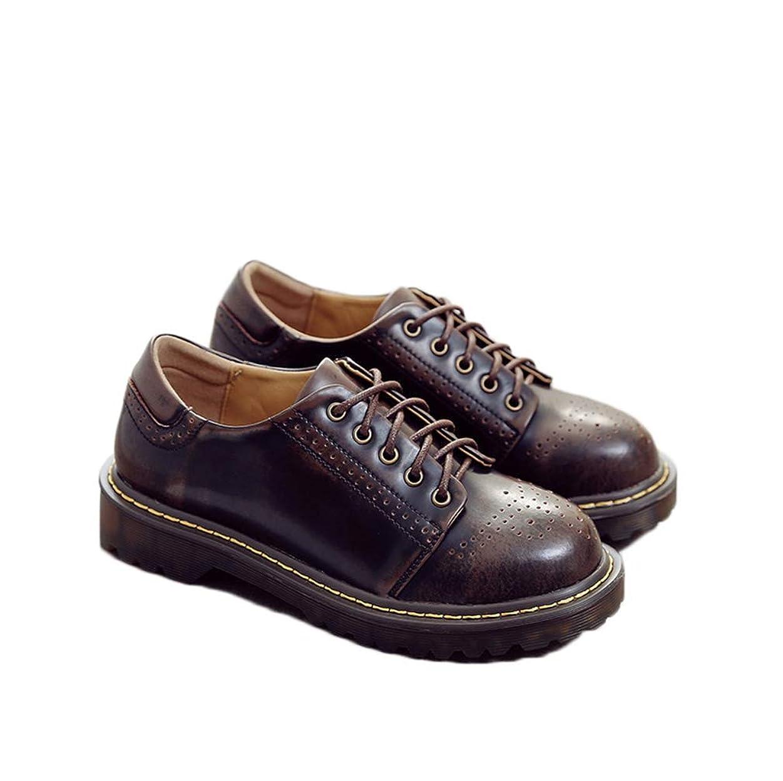援助アートゆるいレースアップシューズ レディース オックスフォード おじ靴 靴 マニッシュシューズ パンチング 本革 大きいサイズ オックスフォードシューズ フラット ローヒール ショートブーツ かっこいい 秋ブーツ レースアップシューズ