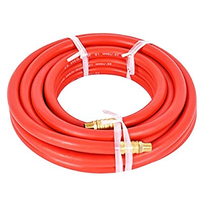"""Costway 300 PSI Rubber Air Hose 3/8"""" With 1/4 Inch NPT Brass End For Air Compressor"""