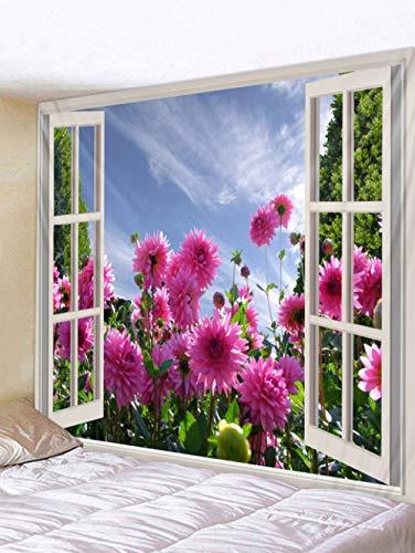 MEOBHI wandbehang, bloemenmotief, 3D-wandbehang, wandbehang, wandbehang, wandbehang, wandbehang