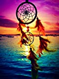 Darmeng DIY 5D Diamond Painting Dream Catcher Landscape Water, Full Drill Kits Round Drill Paint with Diamonds Art Diamond by Number Kits Craft Canvas for Home Wall Decor 12x16 inch
