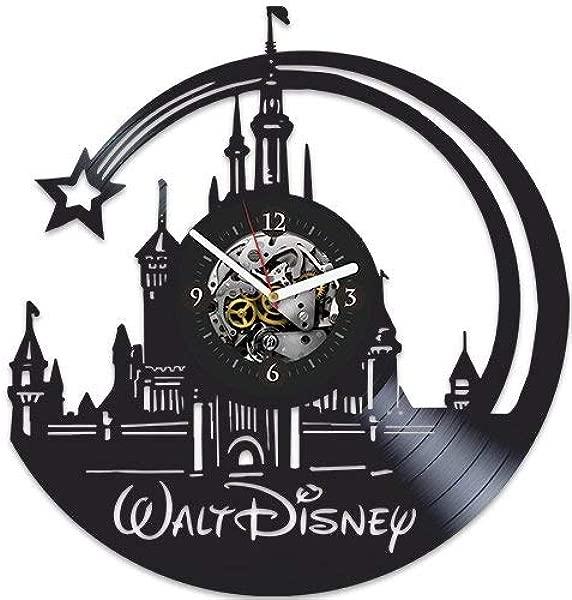 华特迪士尼时钟挂钟现代华特迪士尼礼物女孩挂钟大华特迪士尼圣诞礼物华特迪士尼生日礼物乙烯基挂钟新年礼物儿童