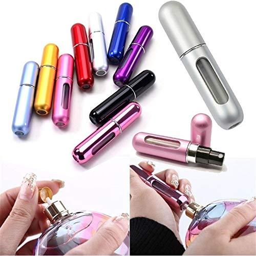 Portable 5 ml vide Atomiseur de parfum rechargeable Mini Bouteille de voyage Parfum Spray Coque, Argenté mat