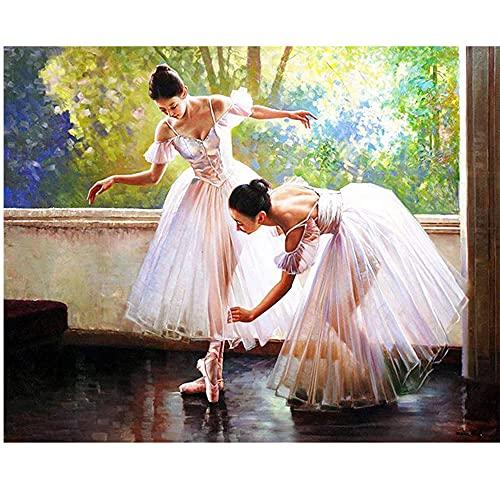 Diamante Pintura Kits,DIY 5D Chica de ballet Kit de la Pintura del Arte del Bordado de Diamantes Para Adultos Niños Decoración Arte para hogar 30x40 cm