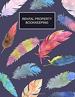 Rental Property Bookkeeping: Feathers Cover Property Record Logbook, Income & Expense, Maintenance, Tenant Interview Log, Yearly Financial Goals, Realtor Gifts