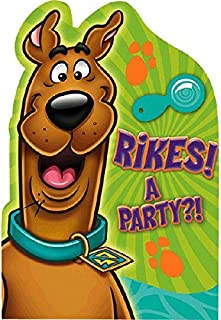 Awesome Scooby-Doo Birthday Party Postcard Invitations, Paper , 5