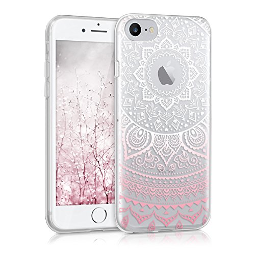 kwmobile Hülle kompatibel mit Apple iPhone 7/8 - Handyhülle - Handy Case Indische Sonne Rosa Weiß Transparent