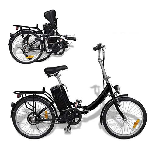 Autoshoppingcenter Bicicleta Eléctrica Plegable Retro 20 Pulgadas 250W para Adultos Hombres Mujeres...