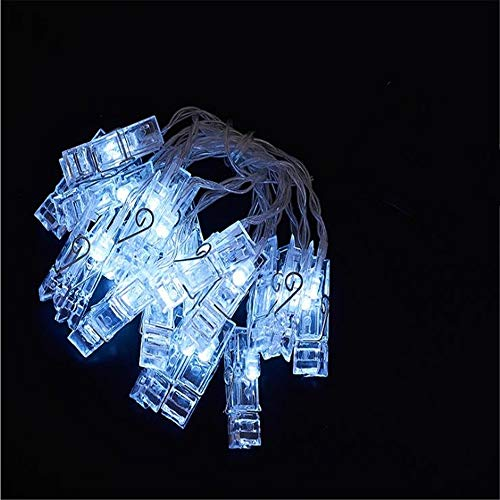 YUNXIANG Led-fotoclip-lichterketten, USB Und Batteriebetrieben. Foto Nagel Lichterketten, Größen Für Weihnachtsfeier Dekoration. (Color : White, Size : 2M 20 Lights USB)