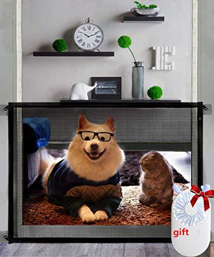 Nifogo Magic Gate Hundeschutzgitter Hundebarrieren, Hundebarrieren Faltbar Hunde Türschutzgitter für Babys, Hunde & Katzen (C-110x72cm)