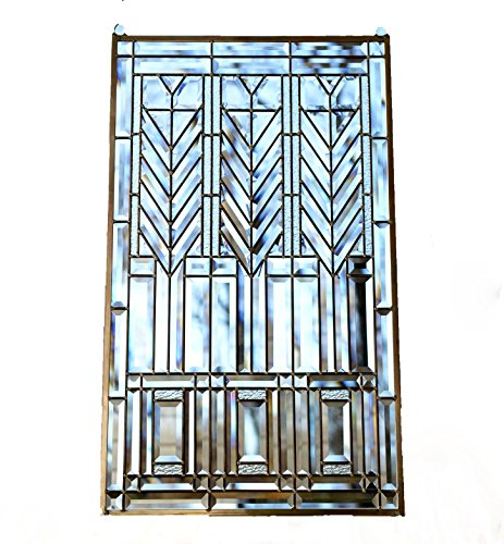 Amplelife 20.5' x 34.5' All Clear Beveled Window Panel F.L.W. Style Tree of Life