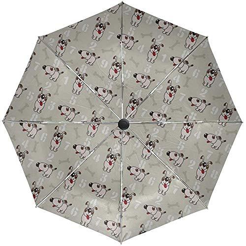 Automatische Regenschirm-Beschaffenheits-Hunde, die die Positive Reise bequem windundurchlässiges wasserdichtes faltendes Auto Open Close zeichnen
