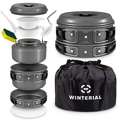 Camping Cookware Set: Light Packing & Easy Cleanup