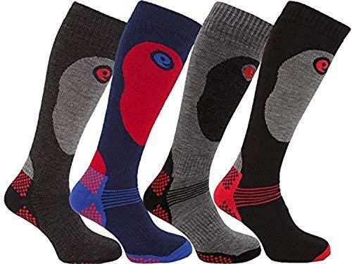 HDUK Mens Socks Herren Socken Mehrfarbig Multi (4 Paar Thermo-Frottee)