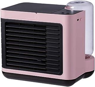 Mini Portátil De La Casa Aire Acondicionado Frío del Refrigerador De Aire del Ventilador Humidificador Iones Negativos del Aire Acondicionado Ventilador,Rosado