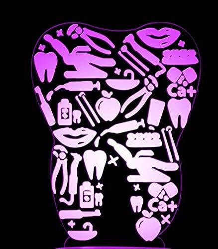 Lámpara Led 3D Para Clínica Dental, Calcomanía De Luz De Ilusión Óptica, Letrero De Dentista, Logotipo, Luz Nocturna, Calcomanía Para Dientes, Lámpara De Mesa Led 3D Para Oficina