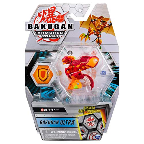 Bakugan Ultra, Pyrus Batrix, Armored Alliance - 3-inch Tall Collectible Transforming Creature, for Ages 6 and Up
