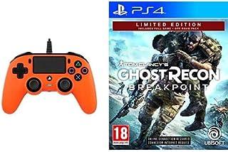 BigBen Interactive Nacon Compact Controller, Arancione - Playstation 4 + Ghost Recon Breakpoint - Limited [Esclusiva Amazon]