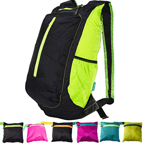 YARWAYER Sac à dos ultra léger, sac à dos pliable, sac à dos pliable, sac à dos pliable pour homme, garçon, femme, fille, adolescence, sac à dos de sport, camping, sac à dos de randonnée.
