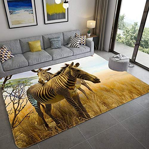 XLDYSC Living Room Carpet,Creative 3D Zebra Printing Rugs,Modern Animal Floor Non-Slip Mats,Kitchen Nursery Living Room Durable Rectangular Area Rug For Home Decor,40X60Cm(15.74×23.62 In)