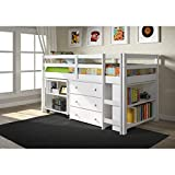 Bunk Bed for Kids with Storage MALINA 79x41x43 inches (LxWxH)
