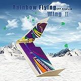 Kedelak Ailes dansantes Hobby E0604 Rainbow II 1000mm Envergure KIT RC Avion Aile Delta Poussoir de Queue Avion Volant