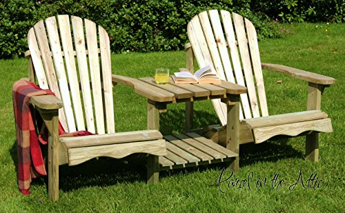 Parcel in the Attic Murcia Solid Wood Outdoor Adirondack Chair