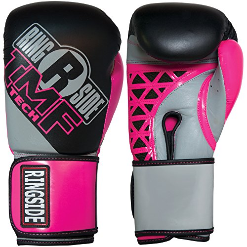Ringside Women's IMF Tech Boxing Training Sparring Gloves, 12-Ounce, Pink/Black