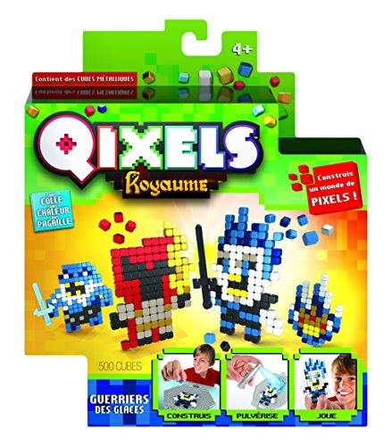 Asmokids Qixels Kingdom – Mini Kit 4 Creations – Ice Warrior Theme Arts and Crafts – Boys Game