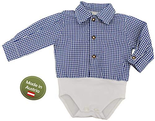 Hemd Body Blau Weiß Gr. 62-92 Baby Buben Kinder