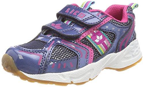 Lico Silverstar V Multisport Indoor Schuhe Mädchen, Blau/ Pink, 31 EU