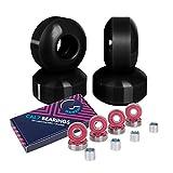 Cal 7 52mm Skateboard Wheels with Bearings (Black)