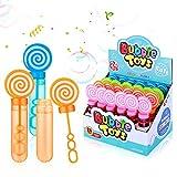 Ucradle 24 Stück Seifenblasen Set Kinder, Seifenblasen Stäbe Spielzeug mit 35ml Seifenblasen...