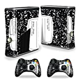 MightySkins Skin Compatible with Microsoft Xbox 360 S Slim + 2 Controller Skins wrap Sticker Skins Compositon Book