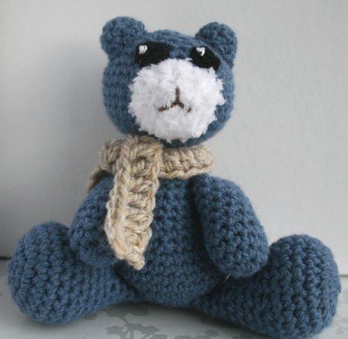Crochet pattern, Amigurumi denim teddy bear (English Edition)
