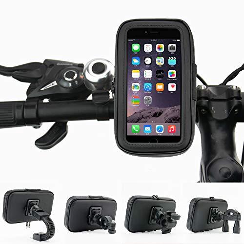 Telefoonhoesje voor fiets, scooter, elektrisch, navigatiehouder voor achteruitkijkspiegel en telefoonhoesje, waterdicht en regenbestendig.