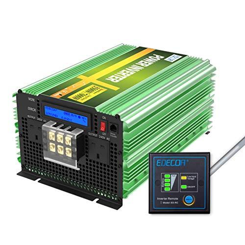 woyaochudan Reiner Sinus-Wechselrichter 3500 W Peak 7000 W DC 12 V zu AC 240 V Auto-Stromrichter mit LCD-Anzeige und Fernbedienung für Wohnmobil-Boote