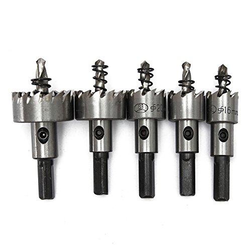 Juego de brocas para taladro HSS de acero, 5 piezas de alta velocidad de 16-30 mm