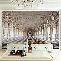 ZCLCHQ 壁紙の壁画大きな壁の絵 カスタム壁画 レトロ&パレス レトロ壁紙ホテルレストラン寝室 壁画3D不織布壁紙 SIZE:280x200cm