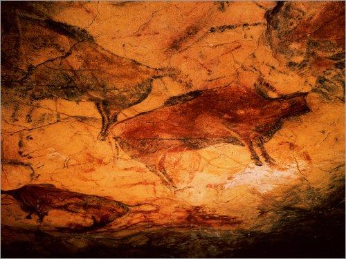 Póster 80 x 60 cm: Bison in The Cave of Altamira de Prehist