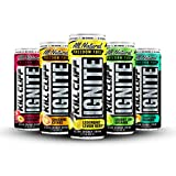 Kill Cliff Ignite | Healthy Energy Drink, Natural Caffeine, Electrolytes, B-Vitamins, KETO Friendly without the Junk| 12 Fluid Ounce (12 Pack, Includes (2) of each flavor: Cherry Limeade, Fruit Punch, and Lemon Berry | (3) of each flavor: Smashing Citrus, Tropicool Thunder