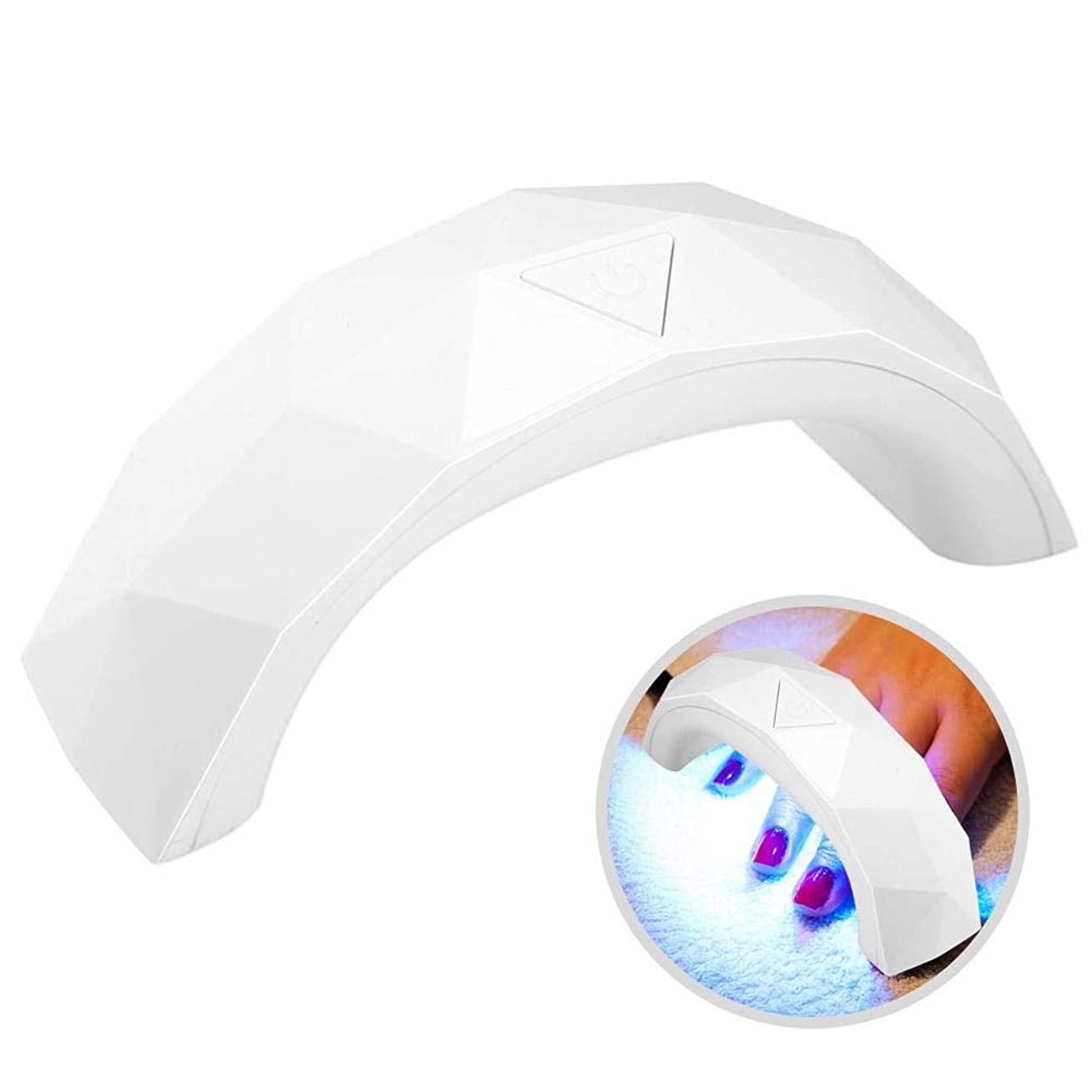 ヒントセーブ移動LEDネイルライト,ネイルドライヤー60 sタイミング紫外線ジェルネイルポリッシュドライ硬化マニキュアusbネイルポリッシュドライヤー